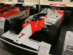1981 McLaren MP4/1, with a carbon fiber composite monocoque