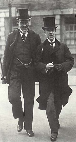 Edwin Montagu, left, the Secretary of State for India, whose report, led to the Government of India Act 1919, also known as the Montford Reforms or the Montagu-Chelmsford Reforms