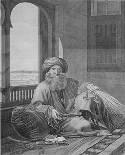 Murad Bey by Dutertre in Description de l'Egypte, 1809