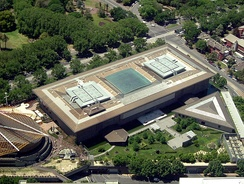 Aerial view of the National Gallery of Victoria's International building