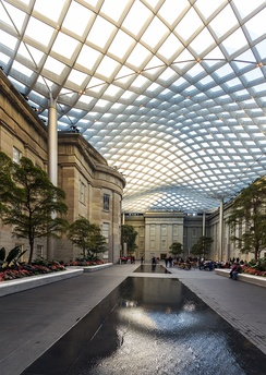 The Robert and Arlene Kogod Courtyard at the National Portrait Gallery.