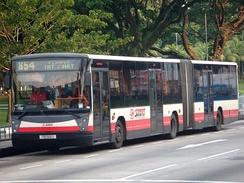 Mercedes-Benz O405G articulated bus operating for SMRT Buses