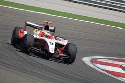 Maldonado driving for ART Grand Prix at the Turkish round of the 2009 GP2 Series season