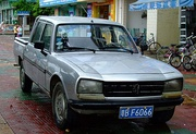 A crew cab Peugeot 504 pickup produced by Guangzhou Peugeot