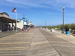 Rehoboth Beach boardwalk looking north at Delaware Avenue