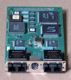 Dual-attach FDDI board for SBus