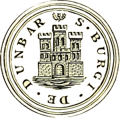 Seal of Dunbar from Groome's Gazetteer[8]