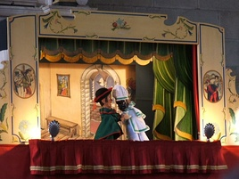 Puppet theater with Gioppino and Brighella, Bergamo Italy