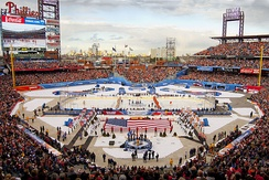 The opening ceremony of the 2012 NHL Winter Classic at Citizens Bank Park, Philadelphia, PA.