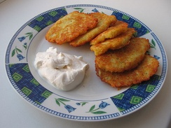 Latkes with smetana