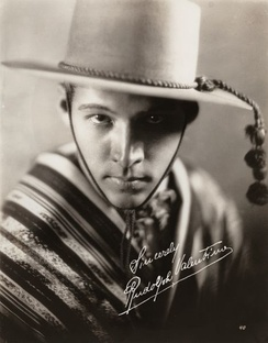 Publicity portrait of Valentino as Julio Desnoyers in the 1921 Metro Pictures production The Four Horsemen of the Apocalypse