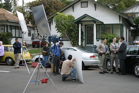 Video production of a political commercial, San Diego, California (2004).