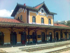 Volos railway station, designed by Evaristo De Chirico.