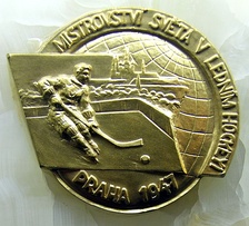 A gold medal won by Czechoslovakia (1947)