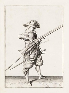 Musket instruction by Jacob de Gheyn II