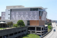 The Muhammad Ali Center, alongside Interstate 64 on Louisville, Kentucky's riverfront