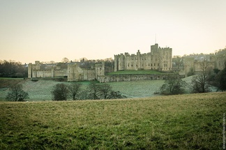 Alnwick Castle in winter.