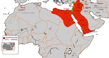 The Ayyubid Empire at its greatest extent