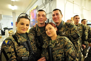 Members of the Armed Forces of Bosnia and Herzegovina's BHAFPC 005, deployed to Bagram AFB.