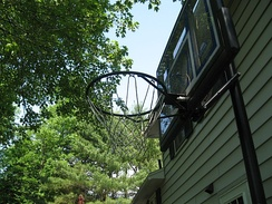Typical privately owned basketball hoop