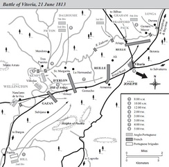 Map of the Battle of Vitoria