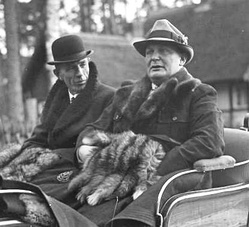 Lord Halifax with Hermann Göring at Schorfheide, Germany, 20 November 1937.