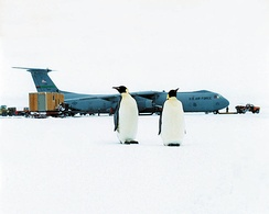 C-141 Starlifter at McMurdo Station, Antarctica