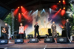 Burnley rock band Chumbawamba in 2012