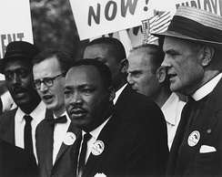Martin Luther King Jr. at the 1963 civil rights march on Washington, D.C.