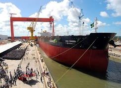 Atlântico Sul Shipyard, the biggest shipyard in the Southern Hemisphere, located in Industrial Port Complex of Suape.[14]