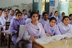 Pakistani school girls in Khyber Pakhtunkhwa.