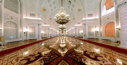 The Hall of the Order of St. George in the Grand Kremlin Palace