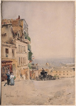 View in Montmartre, Paris, 1889, Princeton University Art Museum
