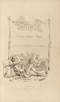 Title-page to Vanity Fair, drawn by Thackeray, who furnished the illustrations for many of his own books