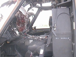 The same UH-60, as seen from the inside.