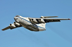 A 1970s Ilyushin-Il-76 airlifter designed for both strategic and tactical military operations