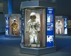 NASA space suits previously worn by the Astronaut Corps at the Johnson Space Center