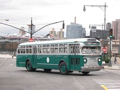 "New York City Omnibus 2969 is an ""Old Look"" TDH-5101 built in 1949."