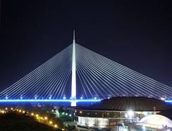 Ada Bridge night view