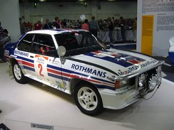 The Rothmans Ascona 400 which won the 1983 Safari Rally in the hands of Ari Vatanen.