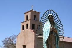 El Santuario de Guadalupe, 100 S. Guadalupe St. (downtown), is the oldest extant shrine to the Virgin of Guadalupe in the United States.[59]