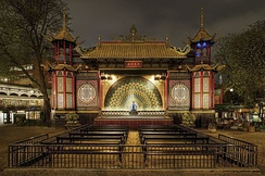 The Pantomime Theatre, opened in 1874, is the oldest building in the Tivoli Gardens