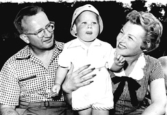 Stafford, Weston, and their son Tim in 1954