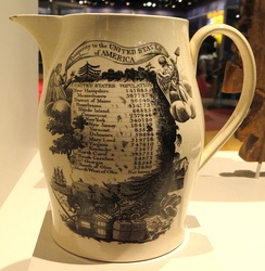 Commemorative pitcher with census results