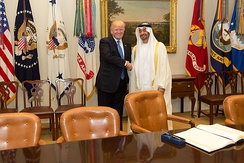 Sheikh Mohammed bin Zayed Al Nahyan and U.S. President Donald Trump in Washington DC, May 2017