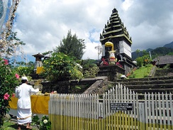 A Hindu shrine dedicated to Sri Baduga Maharaja in Pura Parahyangan Agung Jagatkarta, Bogor. Hinduism has left a lasting impact in Indonesian art and culture.