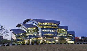 The Samsung Library at Sungkyunkwan University Natural Sciences Campus in Suwon, South Korea