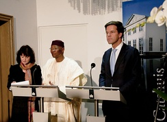 Former President of Mali Amadou Toumani Touré and Minister-president of the Netherlands Mark Rutte