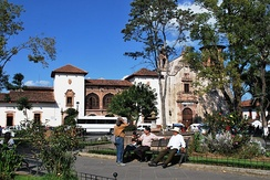 Gertrudis Bocanegra Plaza and the San Agustin Library in Zitacuaro