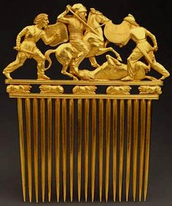 Scythian comb from Solokha, early 4th century BC